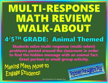 Multi-Response Mixed Math Review Walk-About Activity