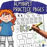 Alphabet Practice | ABC Center | No Prep Activity | Letter Worksheets