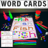 STEM Multi-Sensory Animal Word Cards
