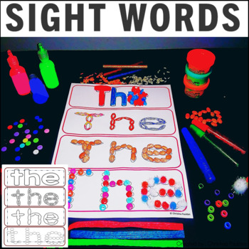 Multi-Sensory Dolch Pre-Primer Sight Word Cards