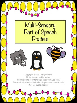 Multi-Sensory Part of Speech Posters