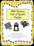 Multi-Sensory Part of Speech Posters
