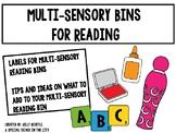 Multi-Sensory Reading Bin Label