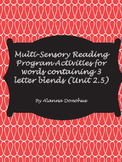 Multi-Sensory Reading System Work for words with 3 letter blends & 6 sounds