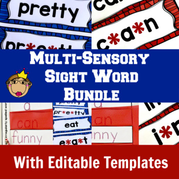 Sight Word Practice Bundle | Multi-Sensory Instruction | Editable