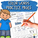 Color Words Worksheets | NO PREP Color Words Practice | Distance Learning