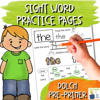Sight Word Practice Pages - 1st Grade Word Work