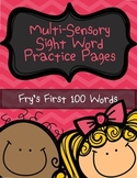 Sight Words Practice | Sight Word Worksheets | Fry's First 100 Words | NO PREP
