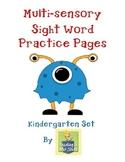 Sight Word Practice Pages - Kindergarten Word Work