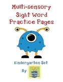 Sight Word Practice Pages - Kindergarten Word Work