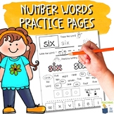 Sight Word Practice Pages - Number Words - Math and Word Work