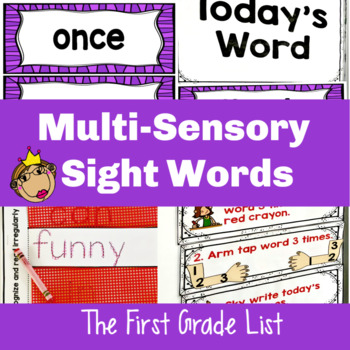 Multi-Sensory Sight Word Practice and Sight Word Games-First Grade List