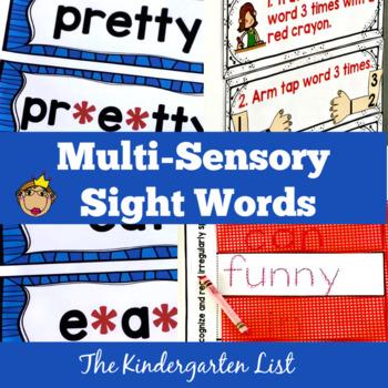 Multi-Sensory Sight Word Practice and Sight Word Games-Kindergarten List