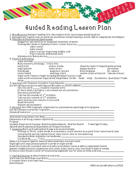 Multi-Sensory Strategies Guided Reading Lesson Plan