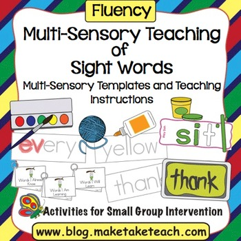 Sight Words - Multi-Sensory Teaching of Sight Words