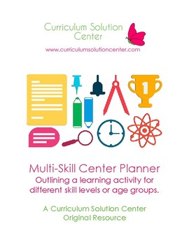 Multi-Skill Center Planners {FREEBIE, Differentiation, Scaffold}