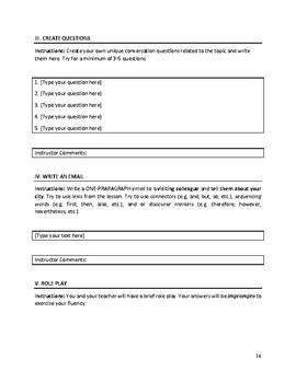 Multi-Skill ESL Conversation Lessons (Pkg of 5)