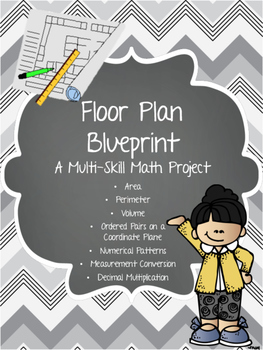 Blueprint teaching resources teachers pay teachers multi skill review floor plan blueprint math project malvernweather Images