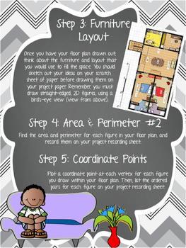 Multi-Skill Review Floor Plan Blueprint Math Project