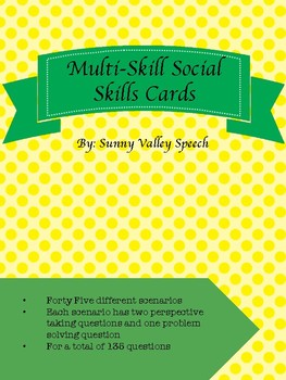 Multi-Skill Social Skills Cards - Problem solving and perspective taking