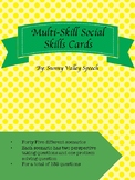 Multi-Skill Social Skills Cards - Problem solving and pers