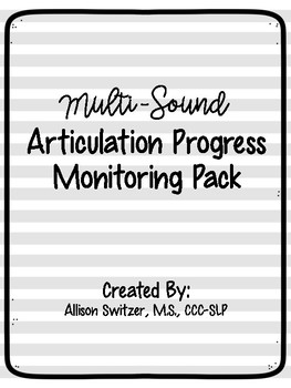 Multi Sound Articulation Progress Monitoring / Data Sheets