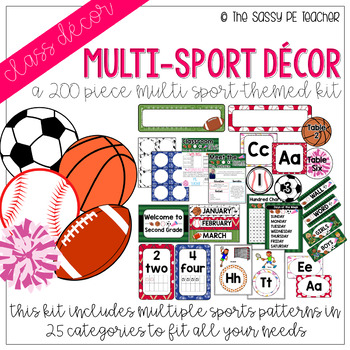 Multi-Sport Classroom Decor Pack