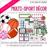 Multi-Sport Classroom Decor Pack