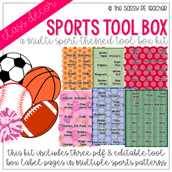 Multi-Sport Toolbox Labels