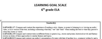 Multi-Standard 6th grade Language Arts/ English