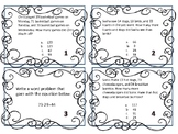 Multi-Step Addition and Subtraction Word Problem Task Cards