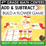 Fall Multi-Step Addition and Subtraction Word Problems Game