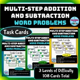 Multi-Step Addition and Subtraction Word Problems Task Car