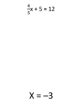 Multi Step Algebra Equations Scavenger Hunt
