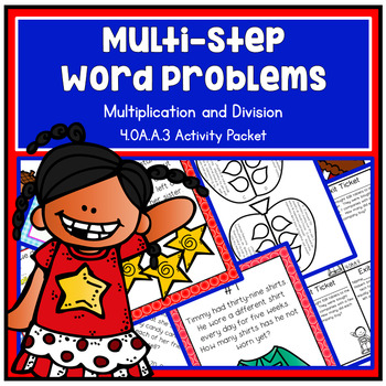 Multi-Step All 4 Operations Word Problems - Fourth Grade 4