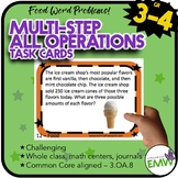 Multi-Step All Operations Task Cards: Deep Thinking 3.OA.8