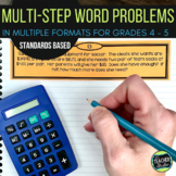 Multi-Step Word Problems| Grade 4 word problems | Grade 5 word problems
