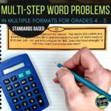 Multi-Step Word Problems  Grade 4 word problems   Grade 5