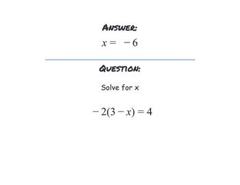 Multi-Step Equation Activity