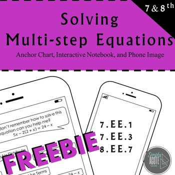 Multi-Step Equation Anchor Chart