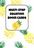 Multi-Step Equation Boom Cards (variable on one side)