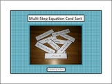 Multi-Step Equation Card Sort