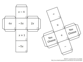 Multi-Step Equation: Cube Game