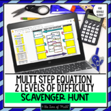 Multi Step Equation Digital Scavenger Hunt For Google Driv