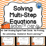 Multi Step Equation BOOM Cards plus Printable Task Cards