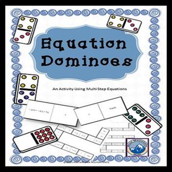 Multi Step Equation Domino Set