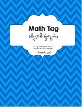 "Multi-Step Equation ""Math Tag"" Collaborative Activity"