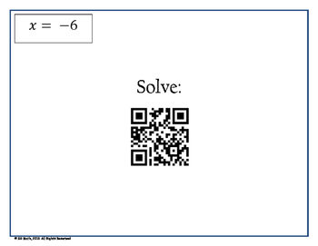 Multi-Step Equation QR Code Scavenger Hunt