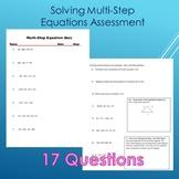 Multi-Step Equation Quiz