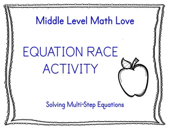 Multi-Step Equation Race Activity